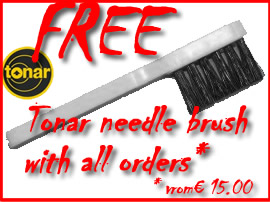 Free Tonar needle brush with all orders from Euro 15.00